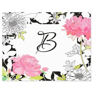 just one initial personalized note cards - Initial Note Cards