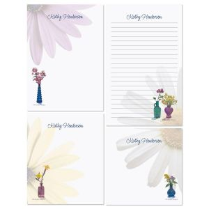 Blue Bottles Memo Pad Set