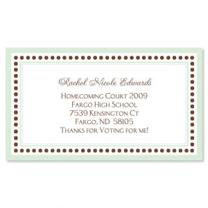 Celadon and Brown Business Cards