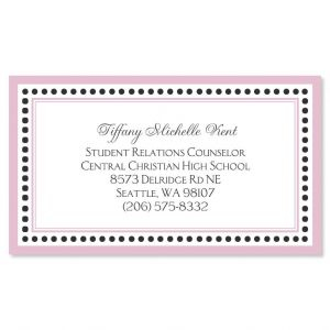 Delicate Pink and Black Business Cards