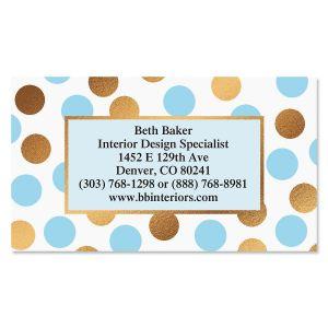 Blue & Brown Foil Business Cards