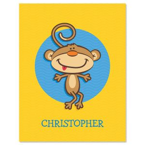 Monkey  Personalized Note Cards