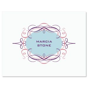 Cartouche  Personalized  Note Cards