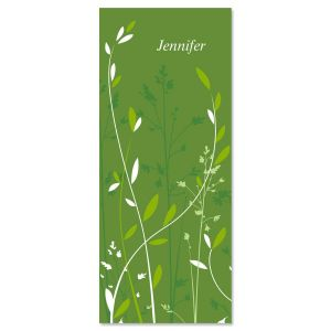 Organic  Personalized Slimline Note Cards
