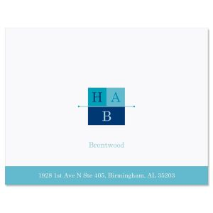 3-Initials  Personalized Note Cards