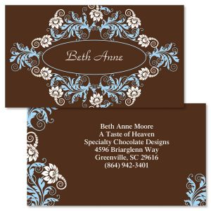 Double sided business cards colorful images chocolate whimsy double sided business cards reheart Images