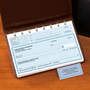 Security Blue Top-Stub Checks with Matching Address Labels