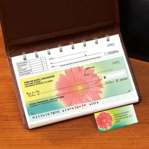 Illuminated Petals Top-Stub Single Checks with Matching Address Labels