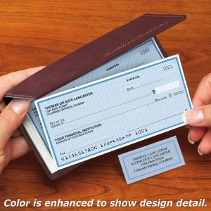 Security Blue Side-Tear Personal Checks