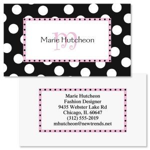 Leeza Initial Double-Sided Business Cards
