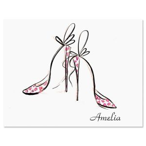 Divine Shoes Personalized Note Cards