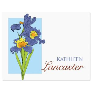 Iris Personalized Note Cards  (3 colors)