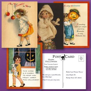 Halloween  Postcards  (4 Designs)