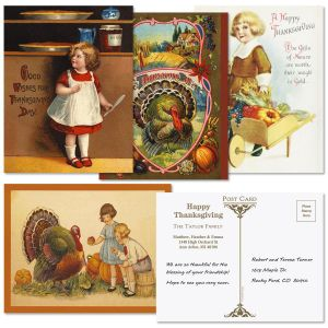 Thanksgiving  Postcards  (4 Designs)
