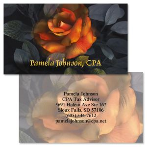 Funn Florals Double-Sided  Business Cards