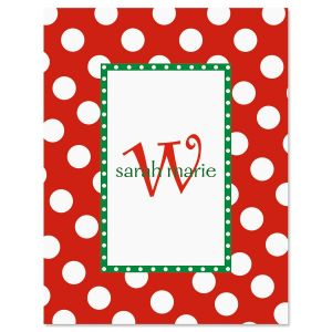 Christmas Dots Personalized  Note Cards
