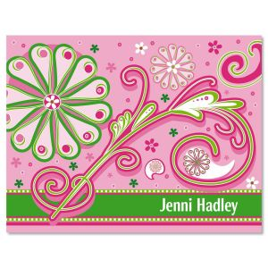 Fun Patterns Personalized Note Cards
