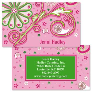 Double sided business cards colorful images fun patterns double sided business cards colourmoves