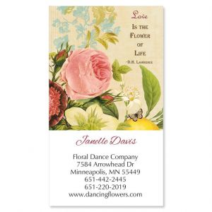 Nature's Flora Vertical Business Cards
