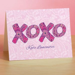 XOXO  Personalized  Note Cards