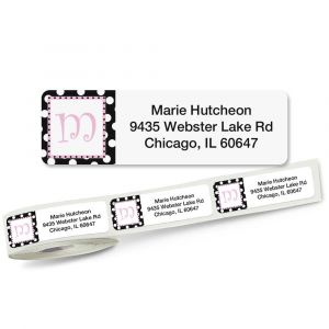 Leeza Initial Rolled Address Labels