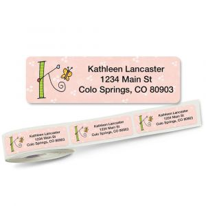Sue Dreamer Initial Rolled Address Labels