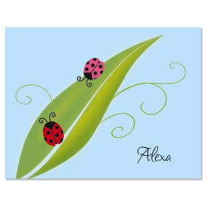 Ladybug Party Personalized Note Cards