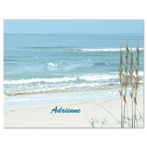 Seashore Personalized Note Cards