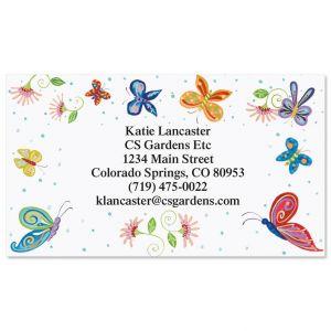 Floral Butterflies  Business Cards