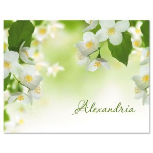 Jasmine Personalized Note Cards