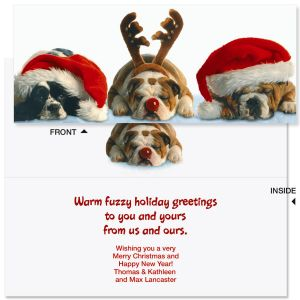 Dog Gone Slimline Holiday Cards