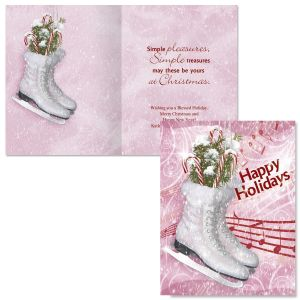 Snowkissed Note Card Size Christmas Cards