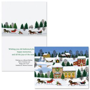 Christmas Past  Note Card Size Christmas Cards