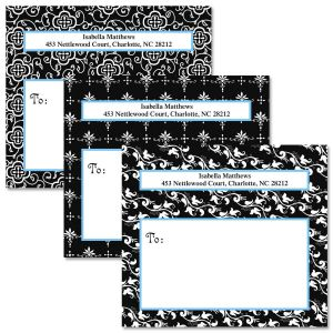 Black Elegance Package Labels  (3 Designs)