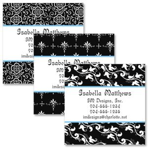 Black Elegance Square Business Cards  (3 Designs)