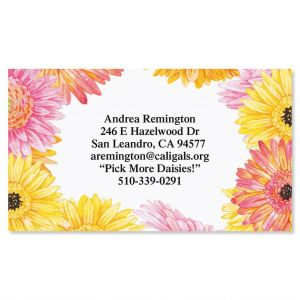 Gerbera Daisy Business Cards