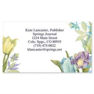 Tulip Frame Business Cards