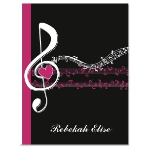 Heart and Song Personalized Note Cards