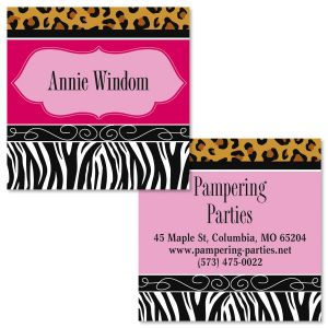 Chic Print Double-Sided Square Business Cards