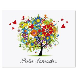 Love and Happiness Personalized Note Cards