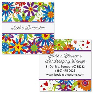 Love and Happiness Double-Sided Square Business Cards