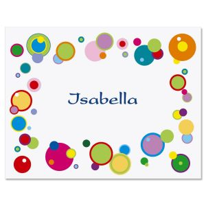 Happy Dots Personalized  Note Cards