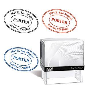 Oval Address Stamp