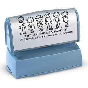 Our Family Address Stamp