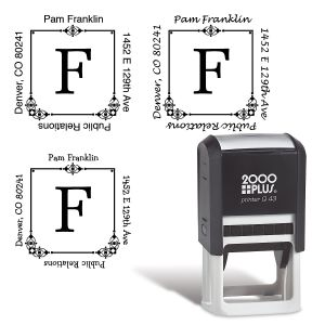 Executive Square Address Stamp