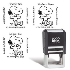 PEANUTS® Square Self-Inking Address Stamp