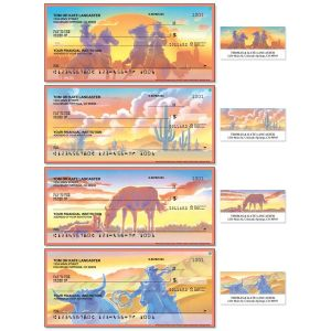Western Country Duplicate Checks With Matching Address Labels