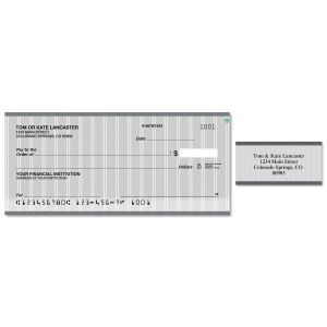 Pinstripe Single Checks With Matching Address Labels