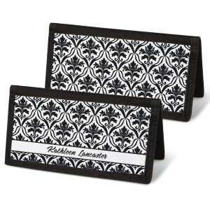 Elegant in Black Personal Checkbook Covers