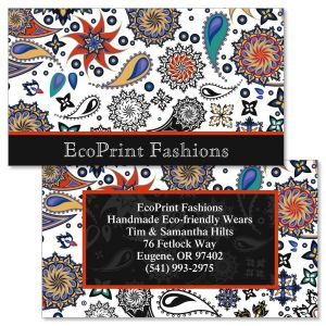 Color Paisley Double-Sided Business Cards